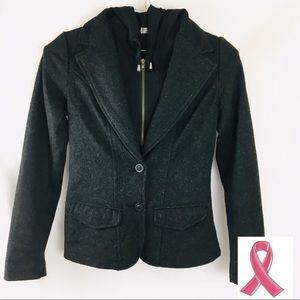 Stitch Fix Miilla Black Wool Dress Coat sm